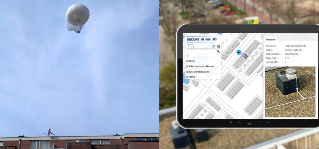 panorama kabelballon luchtfoto gis tablet inspectie